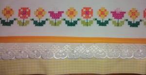 faixa bordada flores
